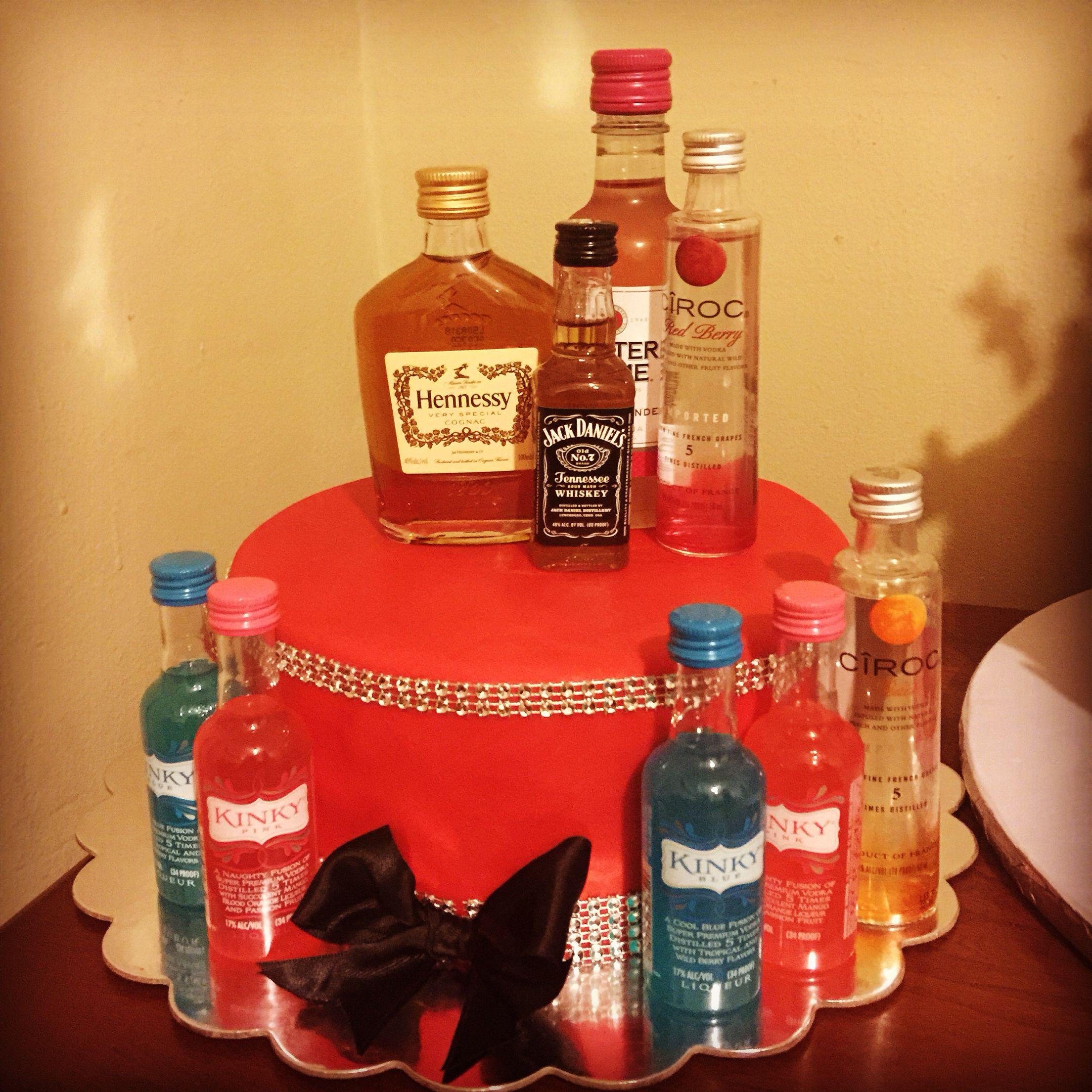 Alcohol birthday cake My cake Pinterest