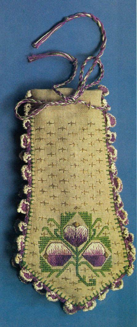 Hesap İşi Kese Modeli- Turkish counted cross stitch purse..