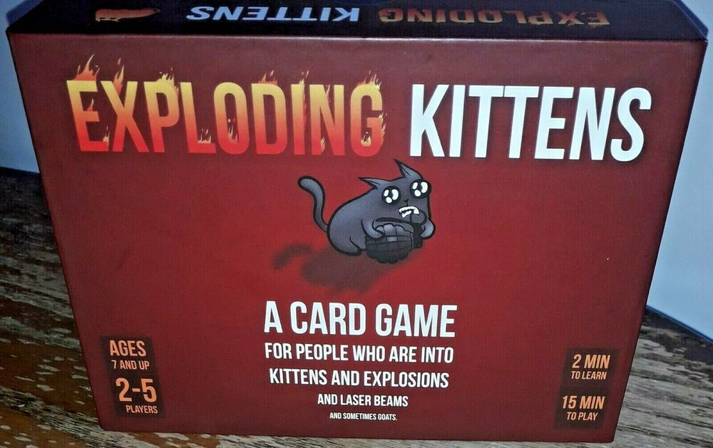 Exploding Kittens Card Game Original Edition Family Fun Complete