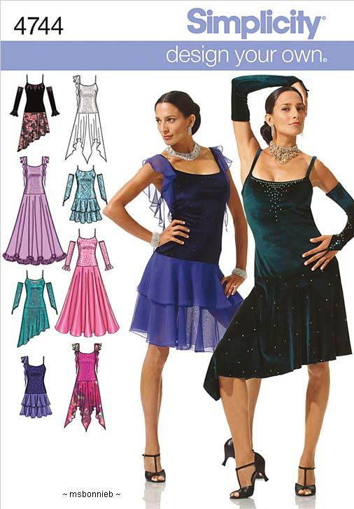 Ballroom Dance Latin/Tango Dancing Dress Pattern 4 10   Dance stuff ...
