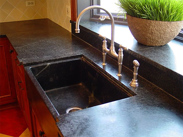 Soapstone Countertops ~ and I prefer recycled soapstone, at that!