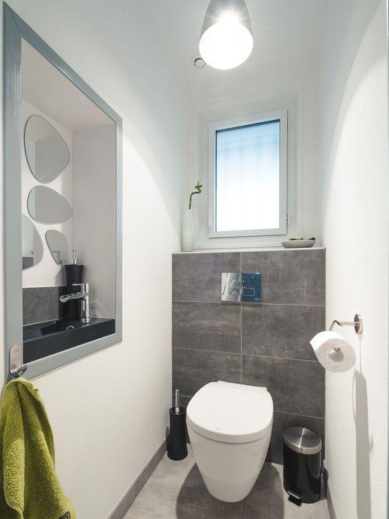 Inspiration avec les WC de Maxime à Peuguet ! Avec un style moderne - amenagement interieur d en ligne gratuit