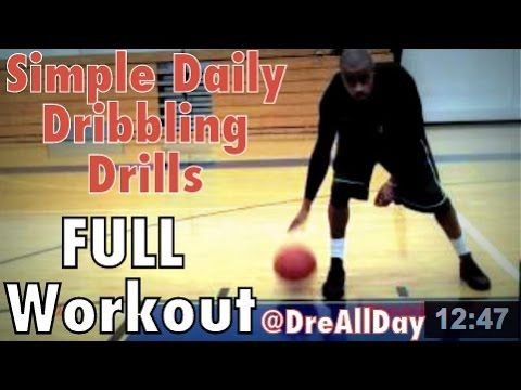 simple daily dribbling drills full workout basketball fundamental rh pinterest com Air Drill Heavy Duty Hand Drill