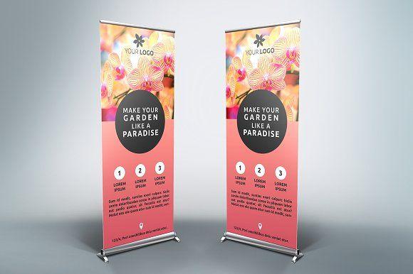 Flower Roll Up Banner Sk Pop Up Banner Pull Up Banner Design Standee Design