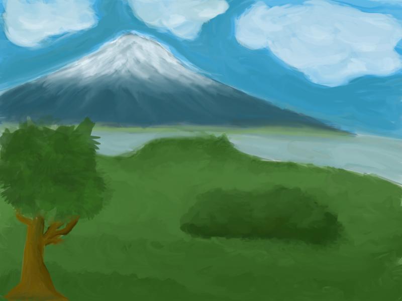 Simple Mountain Landscape By Thedarkenedpoetsimple Mountain Paintings Mountain Paintings Painting Mountain Landscape