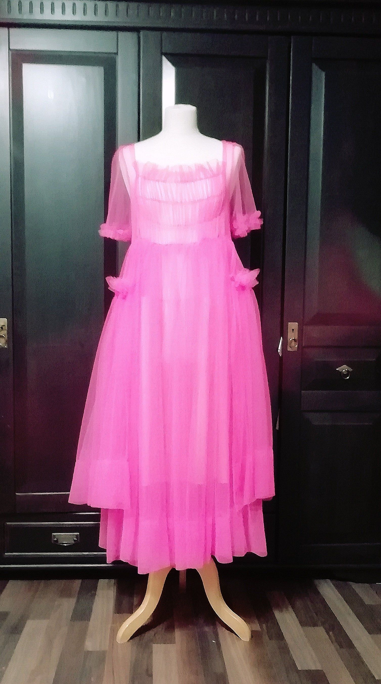 Oversize Pink Tullkleid Etsy Tullkleid Modestil Pinkes Kleid [ 2705 x 1507 Pixel ]