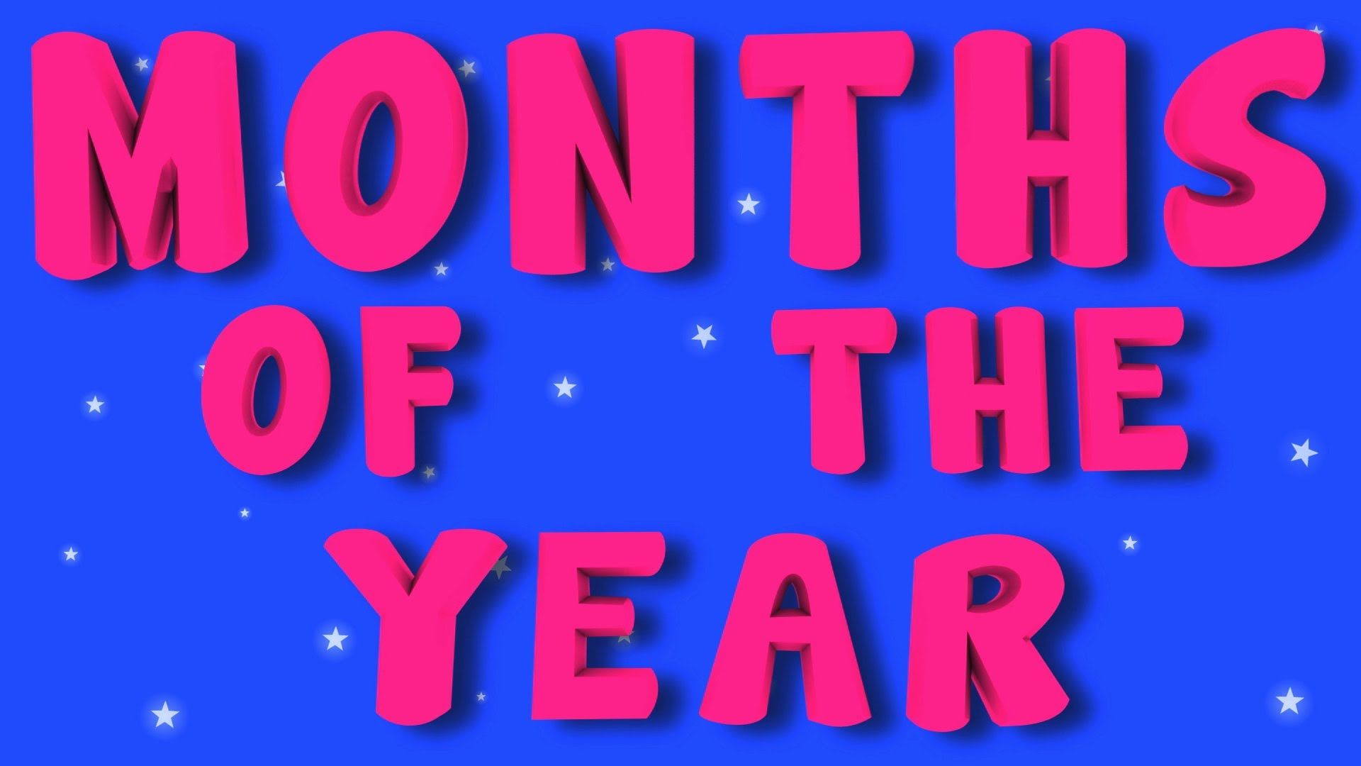 Months Of The Year Kids Nursery Rhymes Childrens Songs Month Of The Year