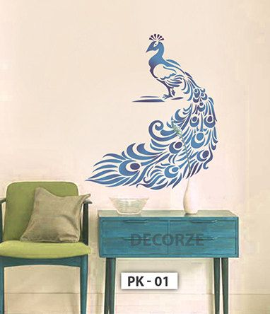 Peacock Stencil For Wall Customize Peacock Designs For Crafts Art