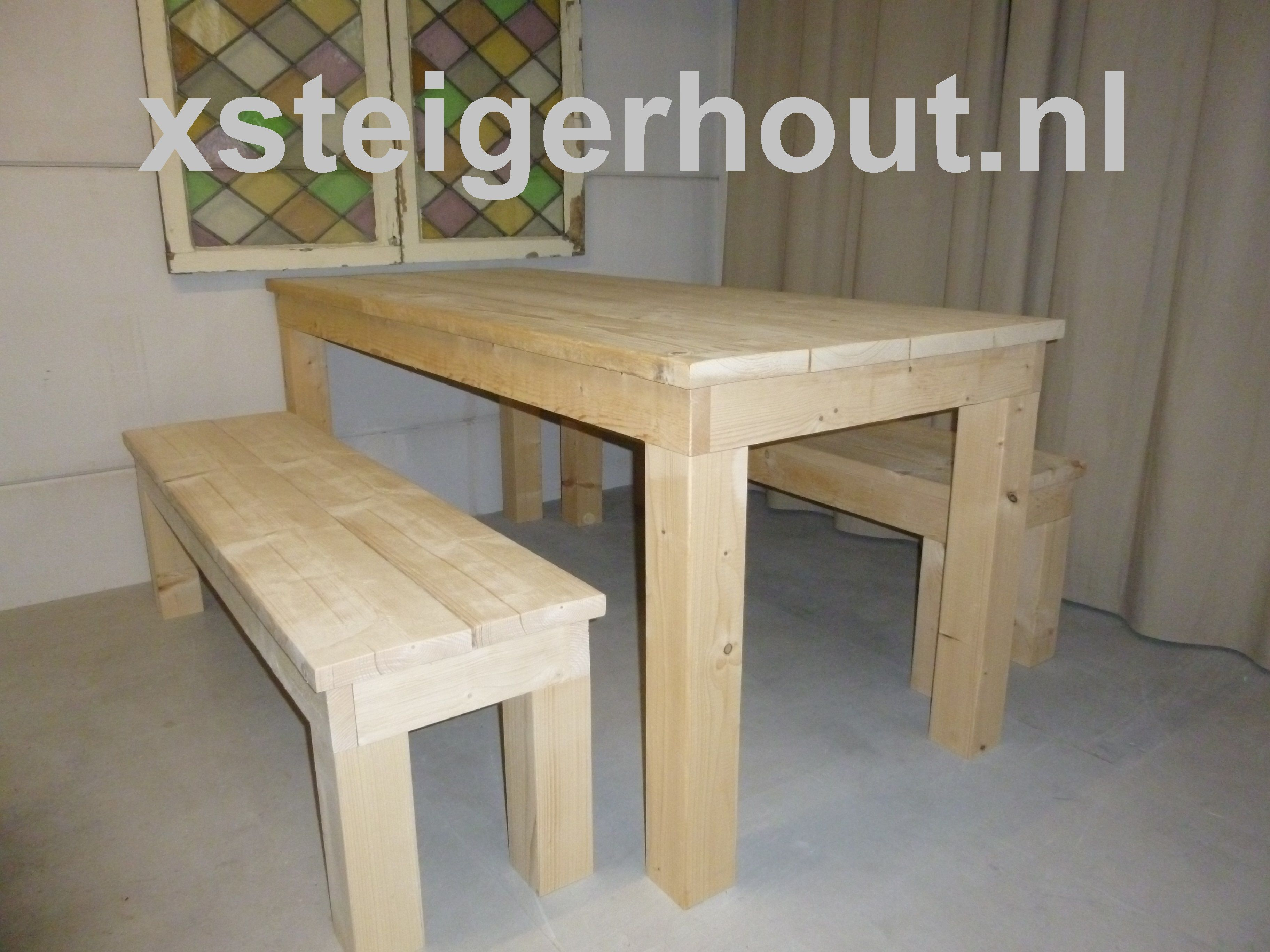 Steigerhouten eettafel tafel haarlem