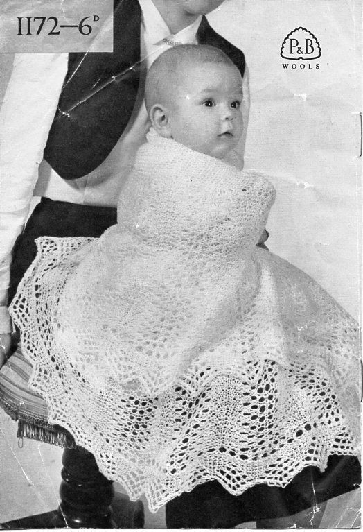 8d4d1ee69 Vintage baby 2ply shawls knitting pattern PDF baby shawl circular ...
