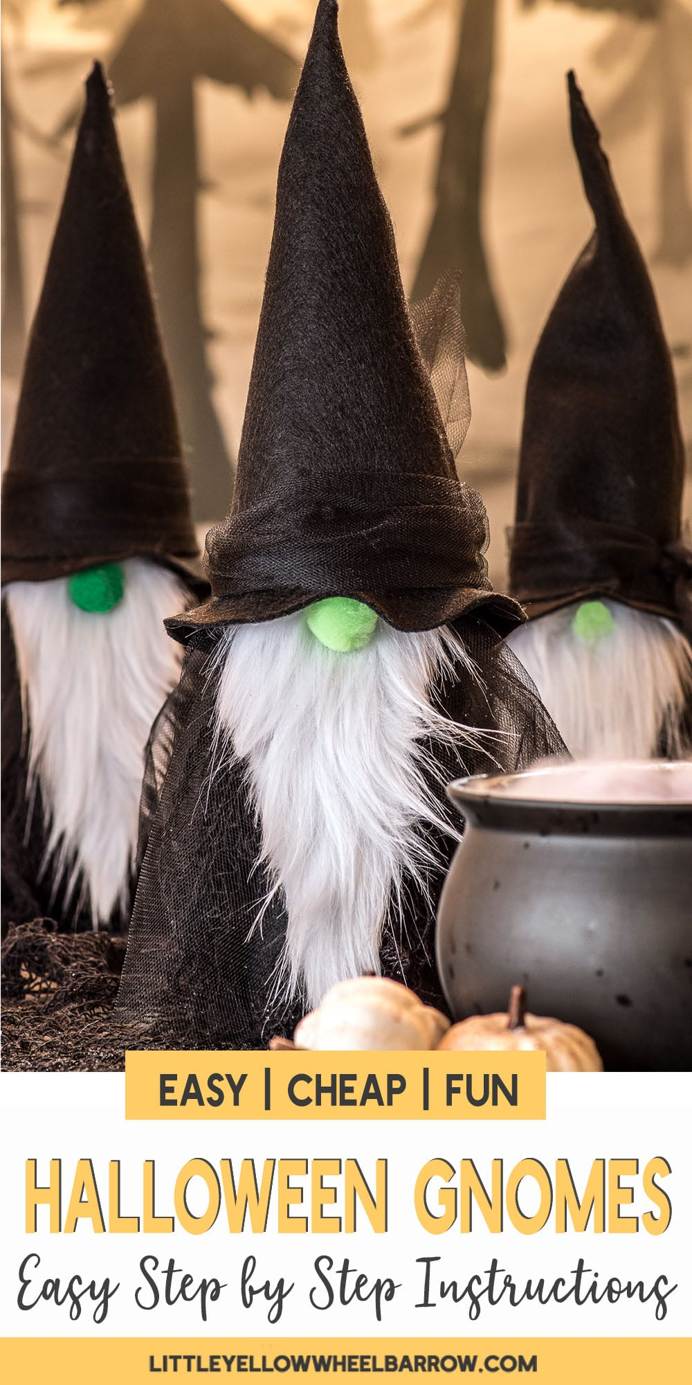 DIY Felt Gnome Witches A Quick Halloween Craft Project
