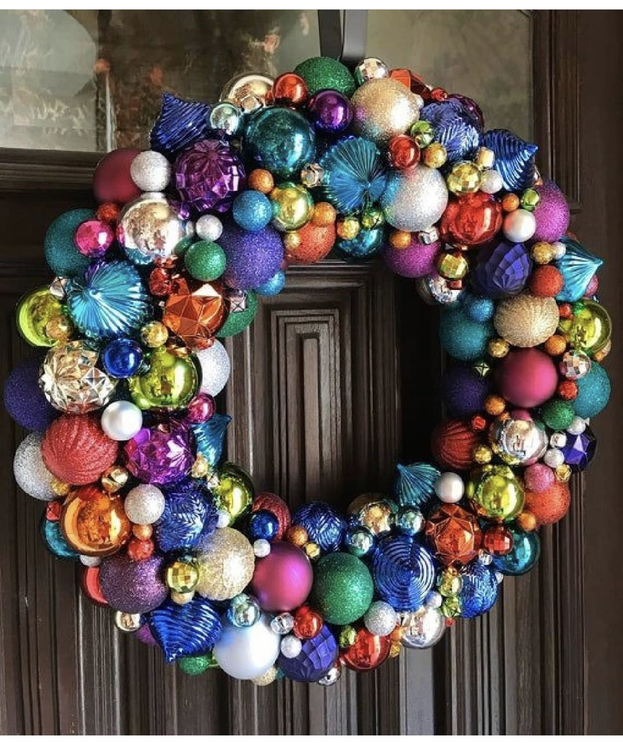 Pin By Michelle Irby On Ho3 Christmas Ornament Wreath Ornament Wreath Rainbows Christmas