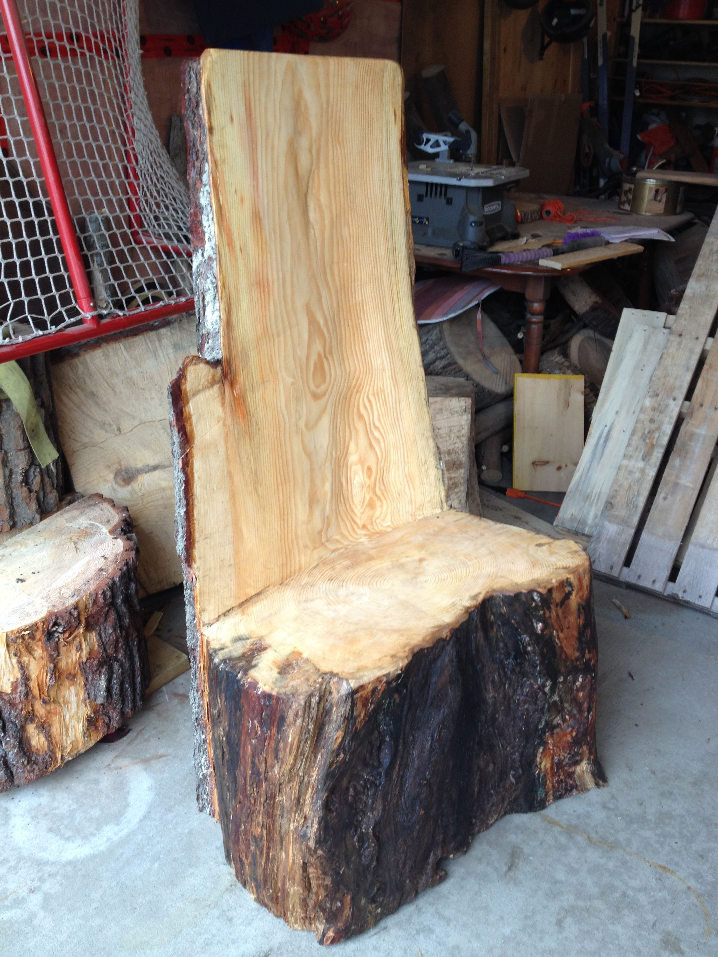 Tree Stump Chairs Wood Dining Table With White Log Chair Large Furniture