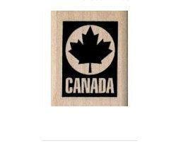 Canada Logo  rubber stamps  vacation cling stamp by pinkflamingo61, $3.75