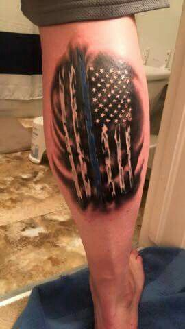 Pin by pamela mcgee on tattoos pinterest tattoo for Law enforcement tattoos pictures