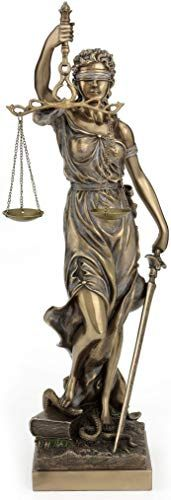 Amazing offer on JFSM INC Large Bronze Finish Lady Justice 18 Inch Statue Sculpture online