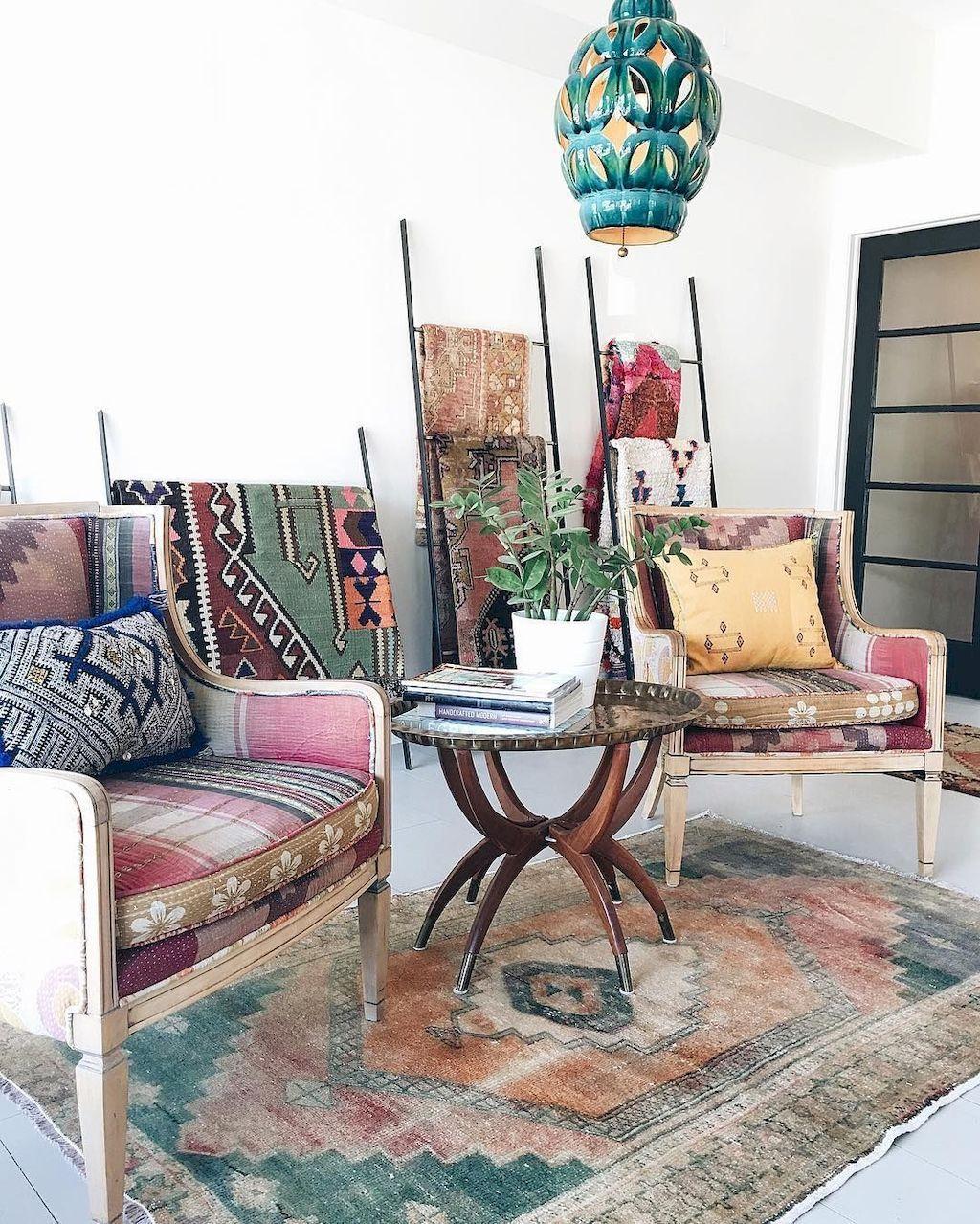 75 Modern Bohemian Living Room Decor Ideas Bohemian