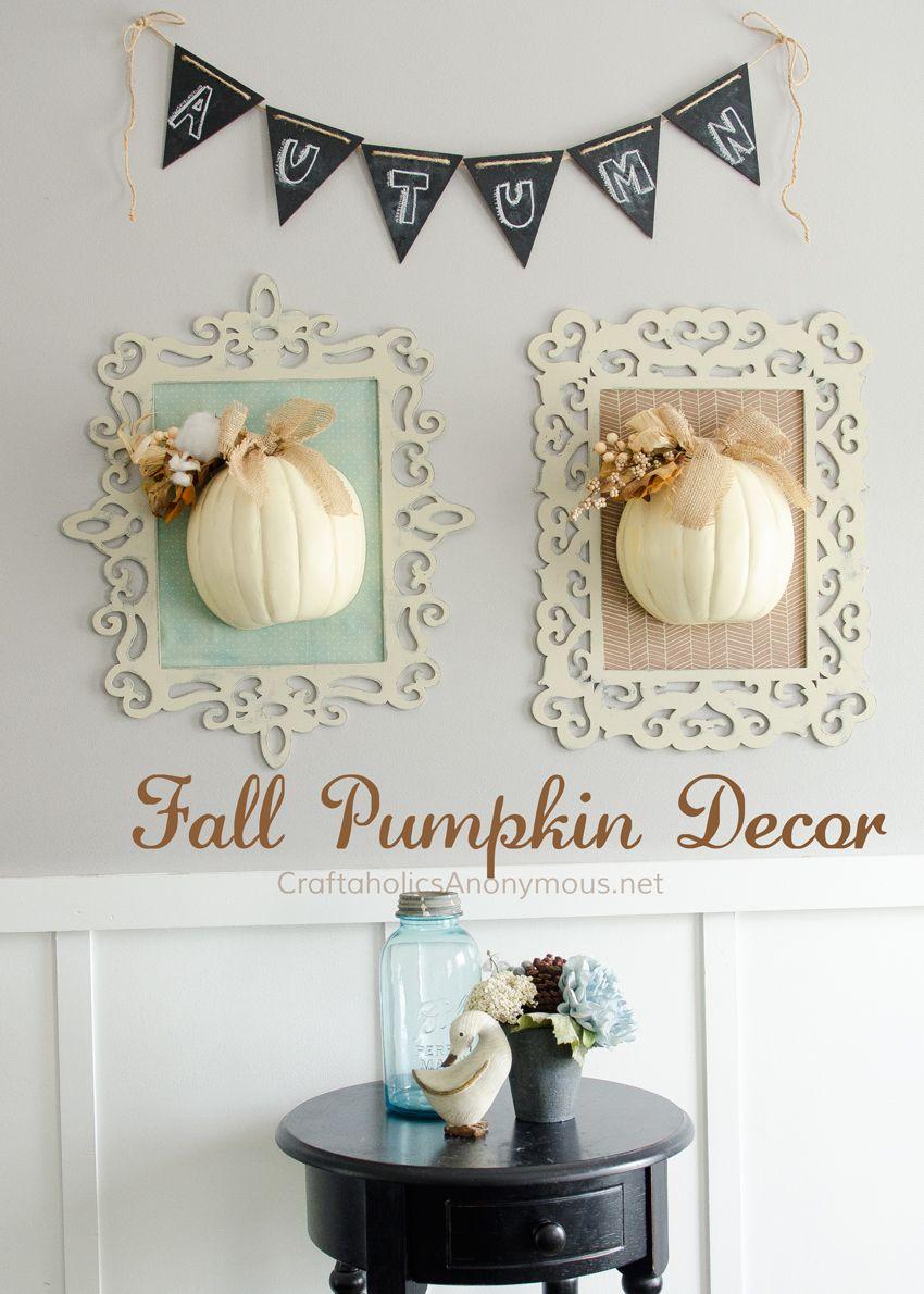 Framed fall pumpkins pumpkin ideas tutorials and craft