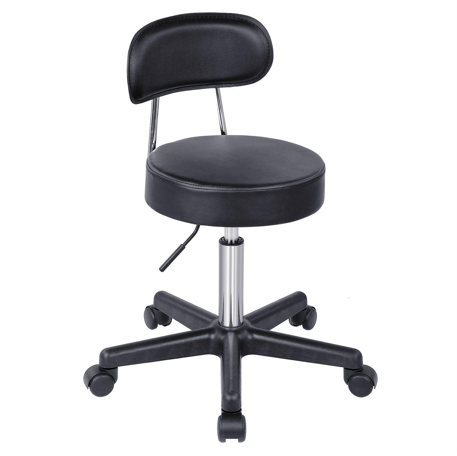 Songmics Adjustable Massage Salon Spa Stool Swivel Rolling Chair