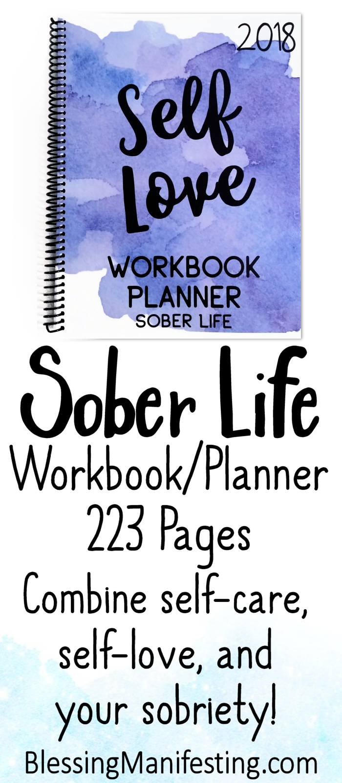 2018 Self-Love Workbook and Planner | Sobriety, Recovery and Planners