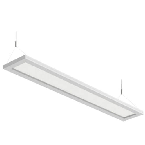 Led Up Down Flat Panel Light Direct Indirect Suspended Office Lights 4ft 40w In 2020 Direct Lighting Office Lighting Led Panel