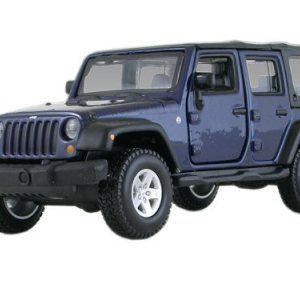 Jeep Wrangler Unlimited Rubicon 4 Doors Blue 132 By Bburago 43012