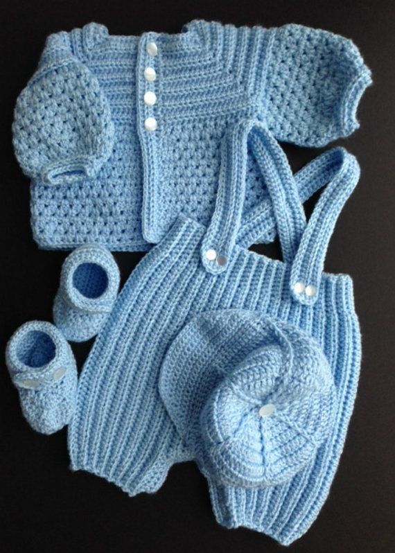 bf5e7f666 Baby Boy Crocheted Outfit | Crochet for Babies | Crochet for boys ...