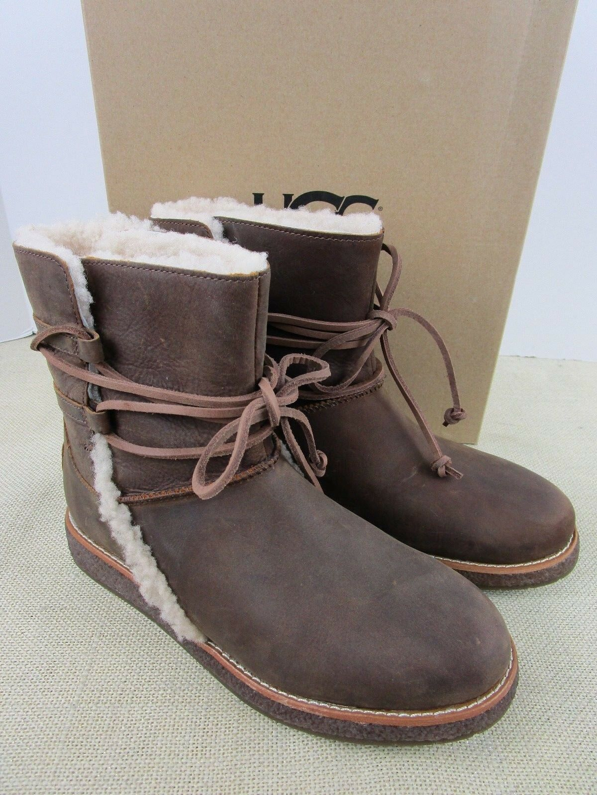 Ugg Luisa 1012545 Cho Mujer Marron Chocolate Cuero Botas De Invierno Botas Marrones Mujer Ideas Of Botas Marrones Winter Leather Boots Boots Winter Boots