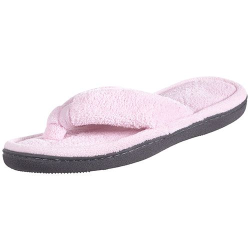 Isotoner Microterry Thong Slippers | Terry Flip Flop Thong ...