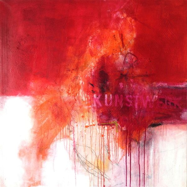 bild acryl abstrakt rot weiss orange abstrakte malerei große bilder kaufen schwarz weiß