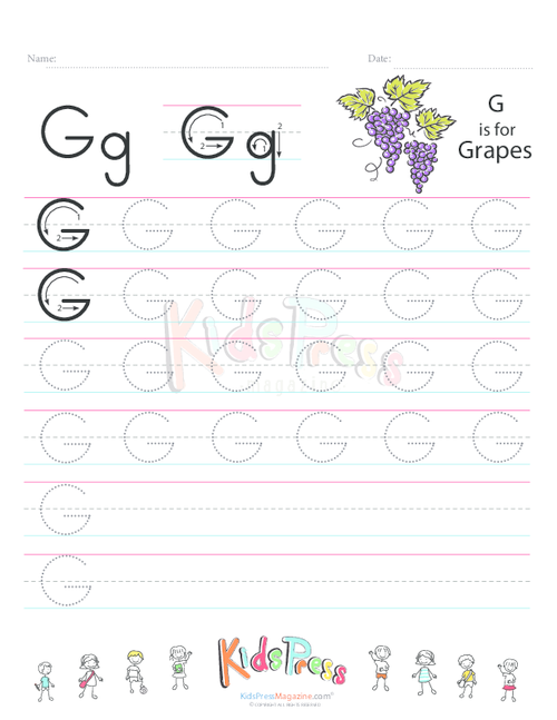 Handwriting Worksheet Letter G | Pinterest