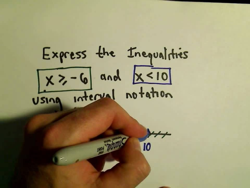 Using Interval Notation To Express Inequalities Example 1 Basic Algebra Notations Expressions