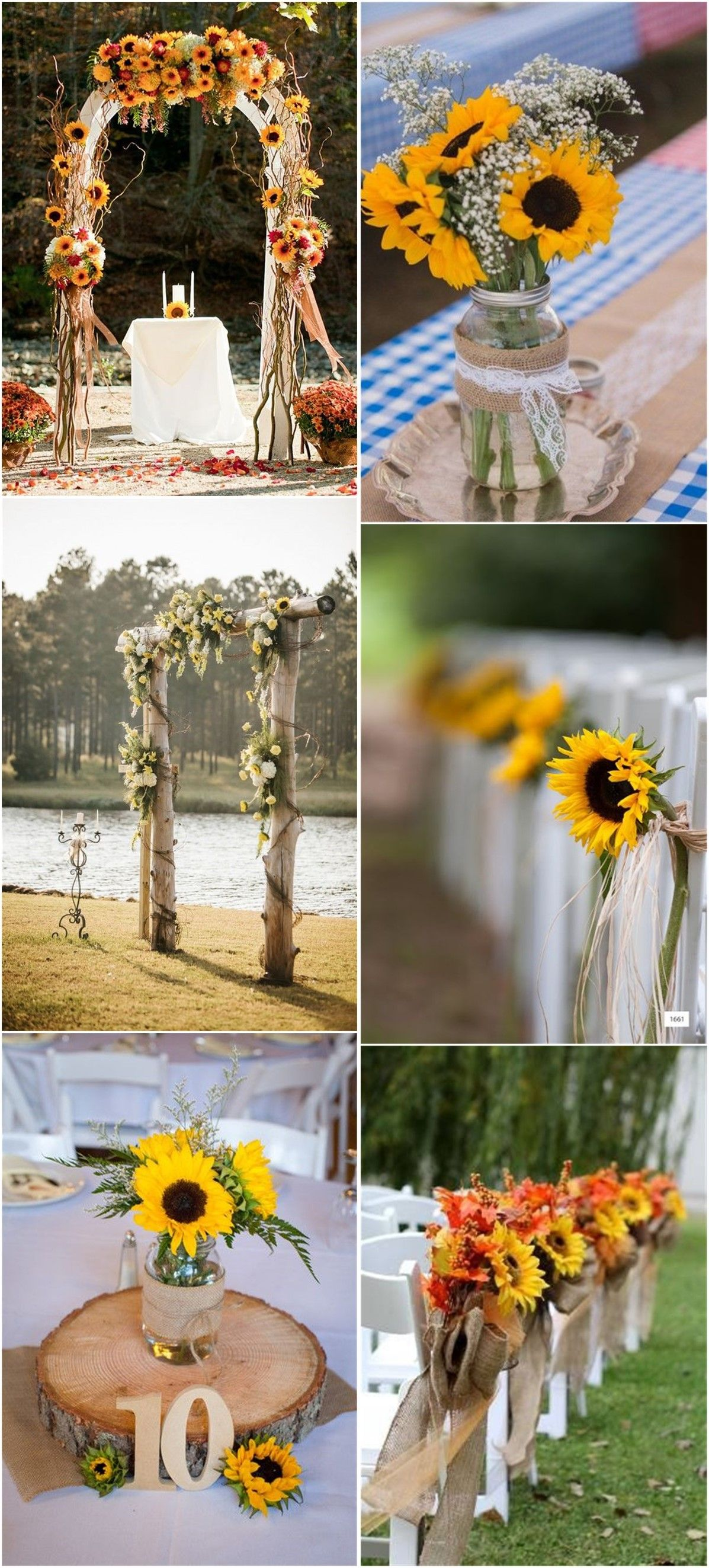 Bright Sunflower Wedding Decoration Ideas For Your Rustic Wedding