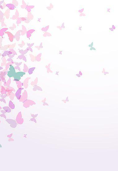 Pink Butterflies Spring Summer Design By Ekaterinap Butterfly Wallpaper Iphone Butterfly Wallpaper Framed Wallpaper