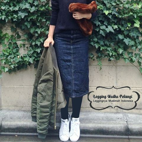 Legging Wudhu Pelangi Sebagai Referensi Hijab Street Style Yang Pas Saat Beraktifitas Sehari Hari Nyamannya Saat Menggunakan Leggi Celana Lebaran Kaos Kaki
