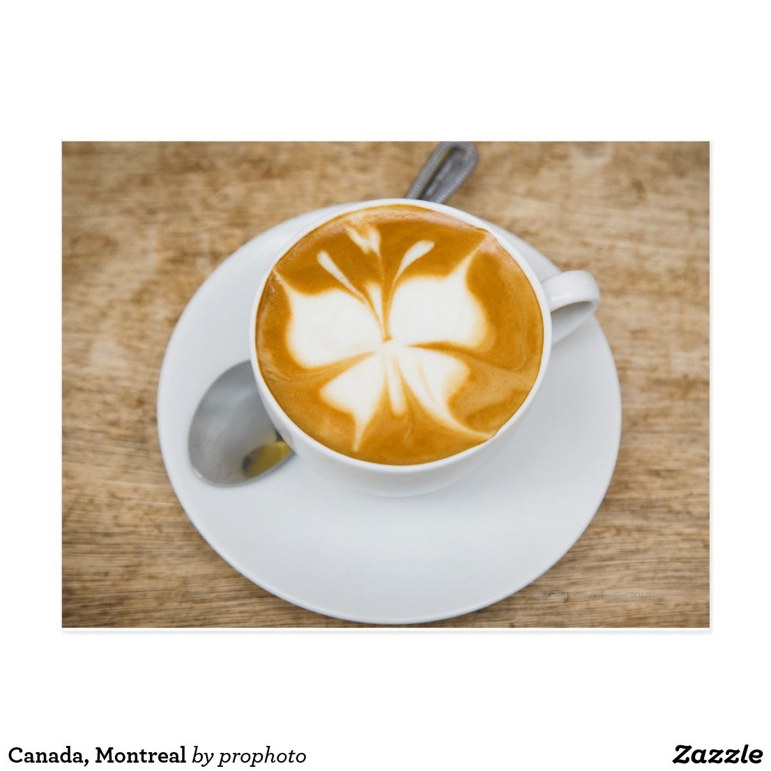 Canada Montreal Postcard Zazzle Com Coffee Art Food Montreal