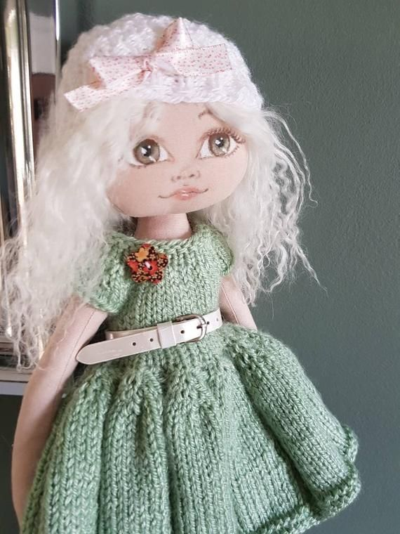 Cloth/rag doll 35cm (Ooak) #dollfacepainting