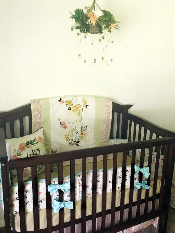 Deer Baby Bedding Fawn With Spots For Less Than 20 On A Perfect Crib Set An Enchanted Forest Friends Nursery Decorating Project Great Ideas