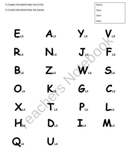 This Alphabet Assessment tool can be used all year long to