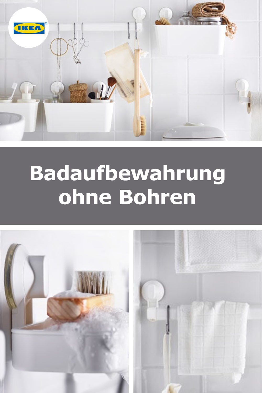 Badhalterungen Ohne Bohren Alles An Der Wand Ikea Ideen Bad Aufbewahrung Badezimmer Aufbewahrung
