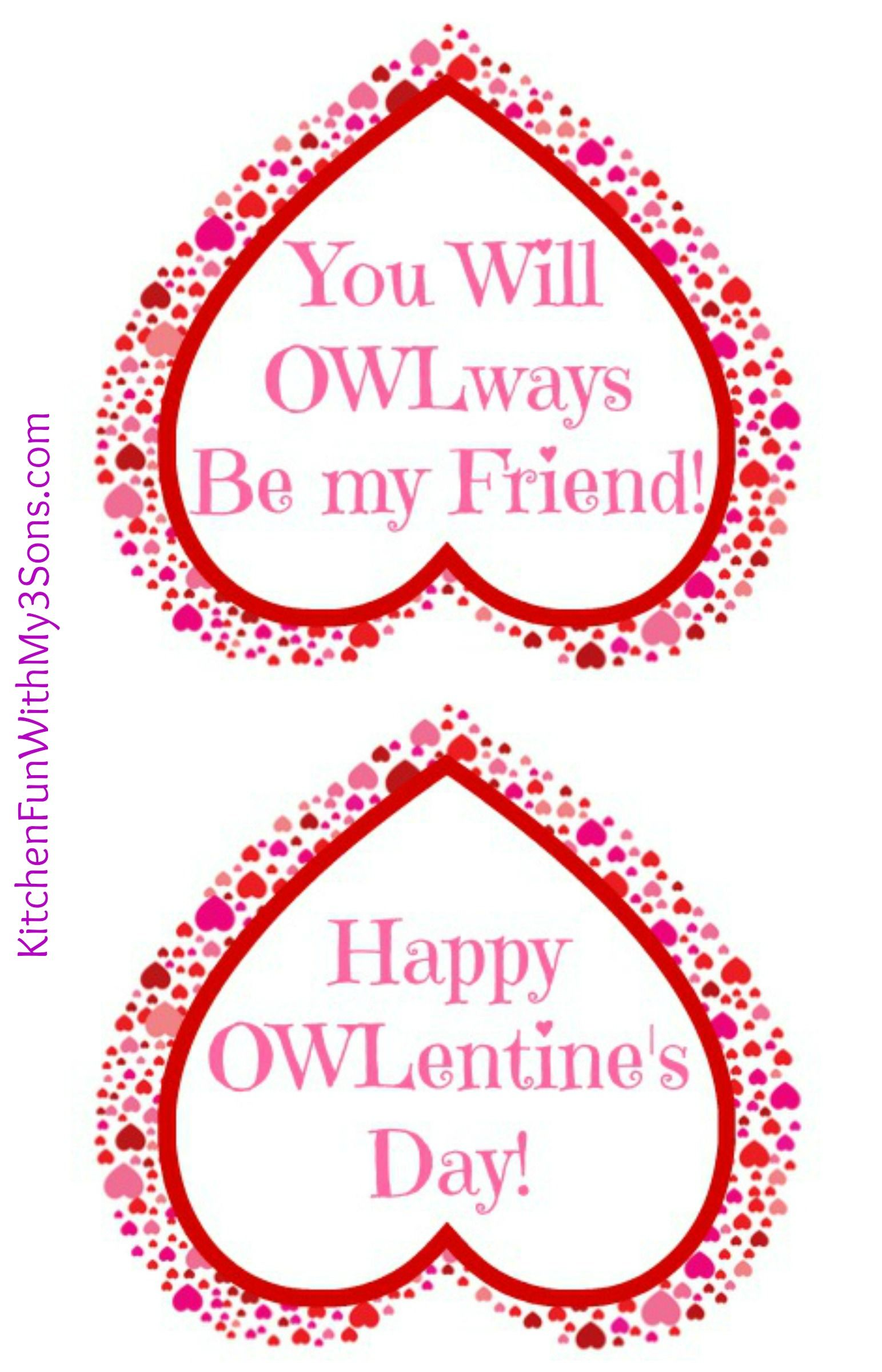 Valentine Owl Paper Treat Bag With A Free Printable A Fun Craft The Kids Can Make Amp Give To