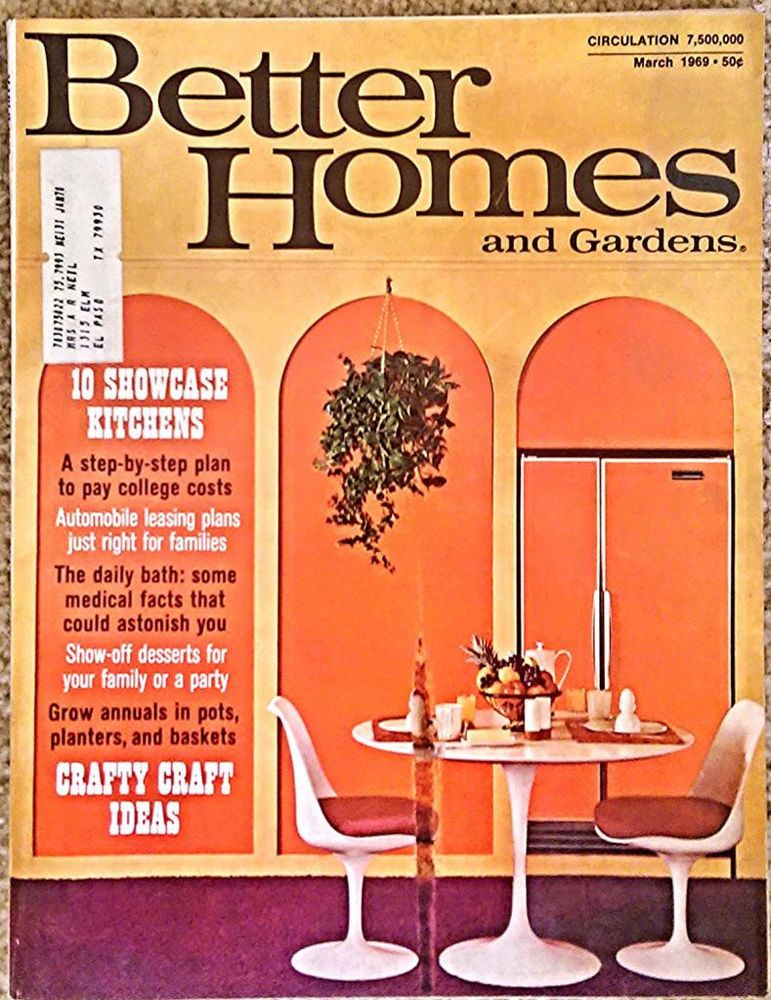 march 1969 better homes gardens kitchens sewing crafts wilmington - Homes And Gardens Kitchens