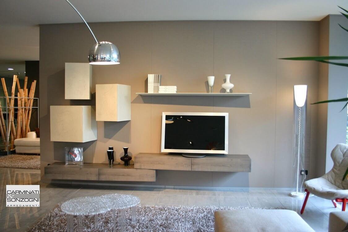 presotto-soggiorno-modulart-basi-pensili-inclinati | Salotto nel ...