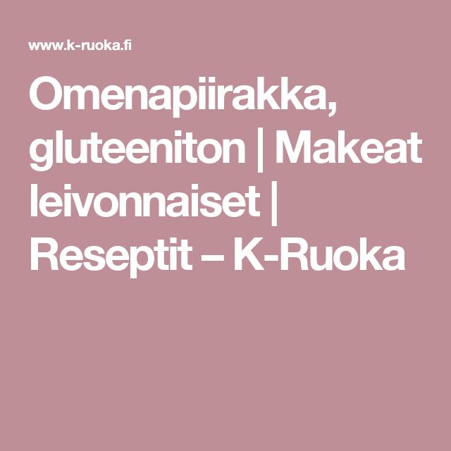 Omenapiirakka, gluteeniton | Makeat leivonnaiset | Reseptit – K-Ruoka
