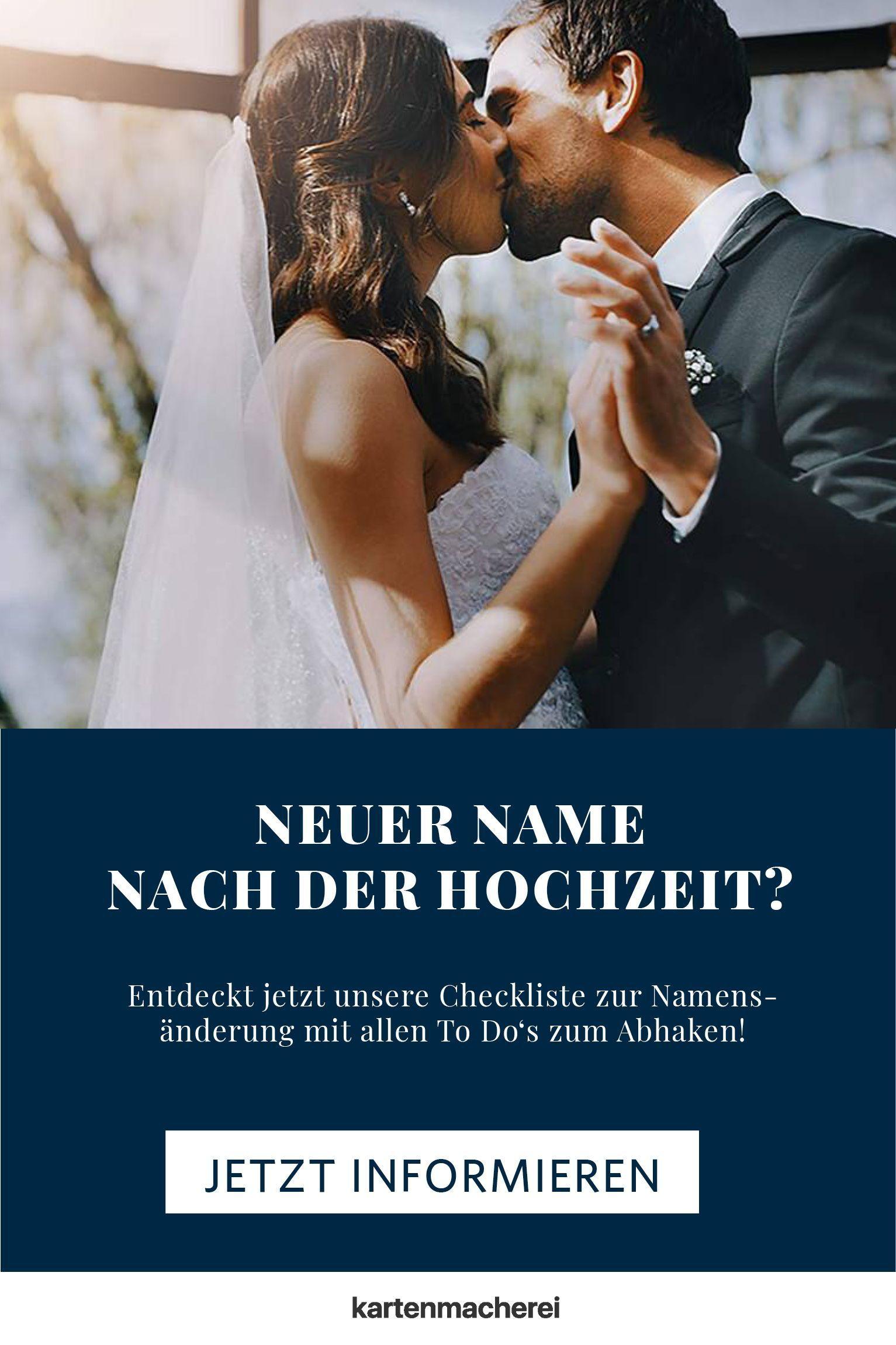 Checkliste Zur Namensanderung Namensanderung Herzlichen Gluckwunsch Zur Hochzeit Hochzeitskosten