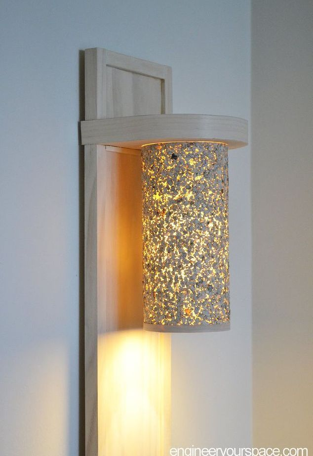 Small Living Room Lighting Ideas How To Make A Wall Lamp Sconce Living Room Lighting Diy Floor Lamp Diy Sconces