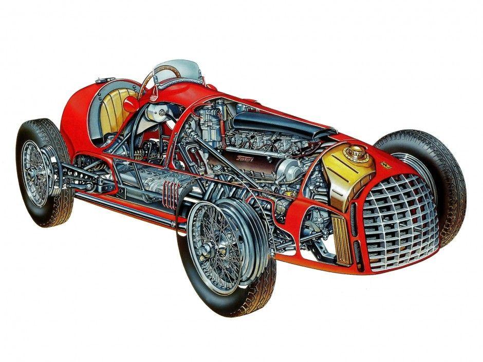 Ferrari Cutaway Drawings Car Build Index In 2020 Ferrari Cutaway Cars