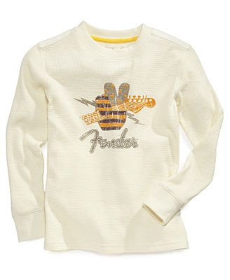Lucky Brand Kids Shirt, Little Boys Fender Graphic Thermal Tee
