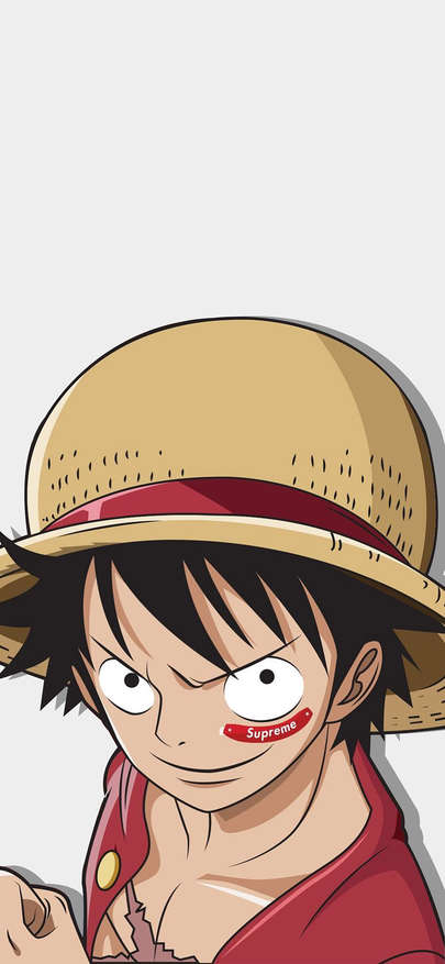 Supreme Of Wet Card Of Japan Of Caricature Of King Of Lu Feihai S Thief Wallpapers For Iphone X Iphon Monkey D Luffy Supreme Iphone Wallpaper Iphone Wallpaper