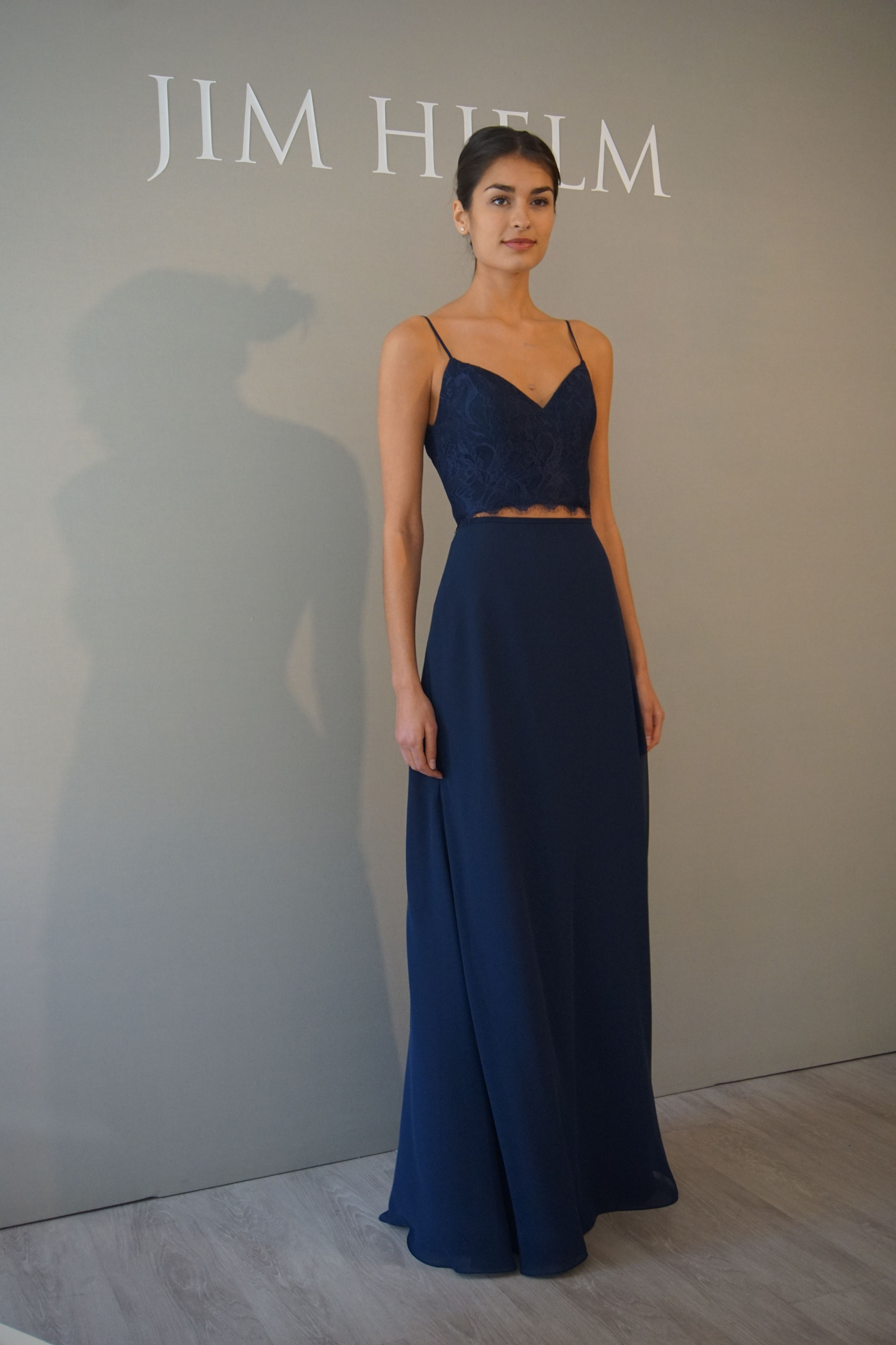 A twopiece bridesmaids dress by hayley paige occasions dc